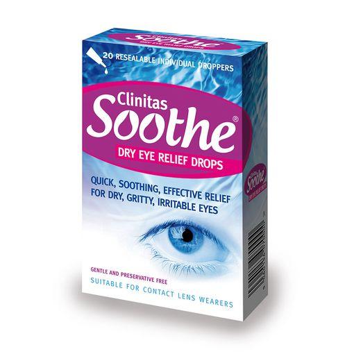 Clinitas Soothe eye drops (vials)